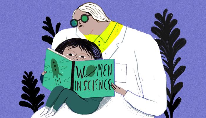 Ciencia Mujer y niña
